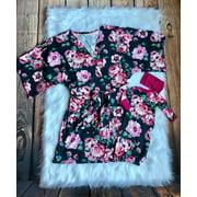 Family Flower Matching Robe And Swaddle Set Mother & Baby Pajamas Sleepsack