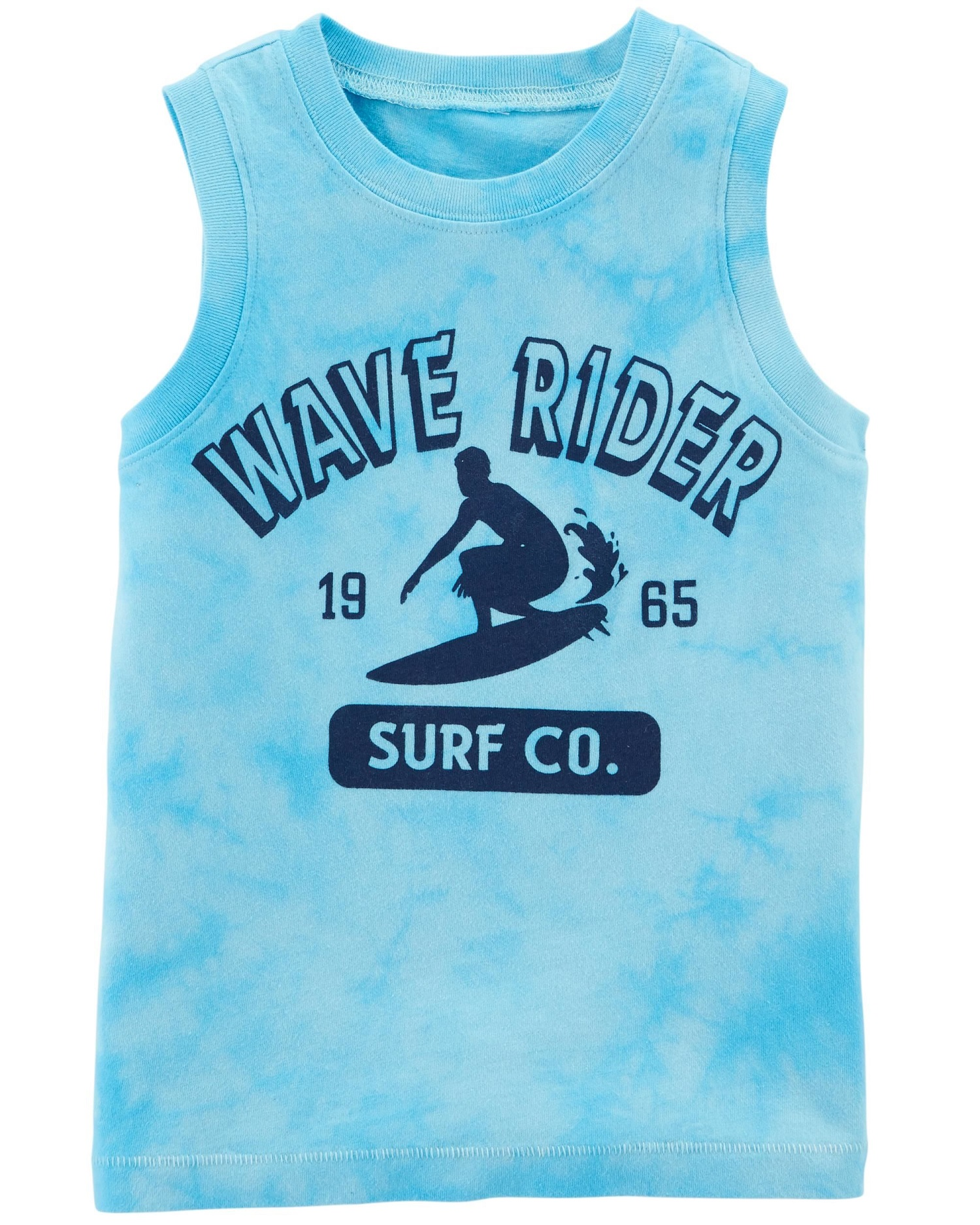 carter's little boys' garment-dyed wave rider tank