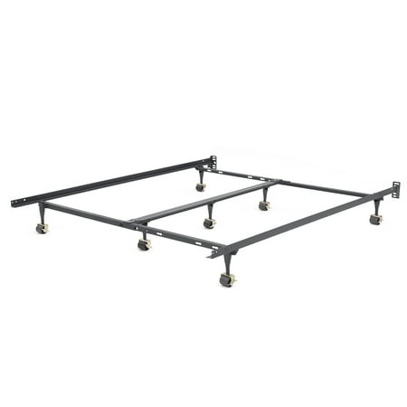 Modern Sleep Hercules Universal Heavy-Duty Adjustable Metal Bed Frame | Adjustable Width Fits Multiple Sizes