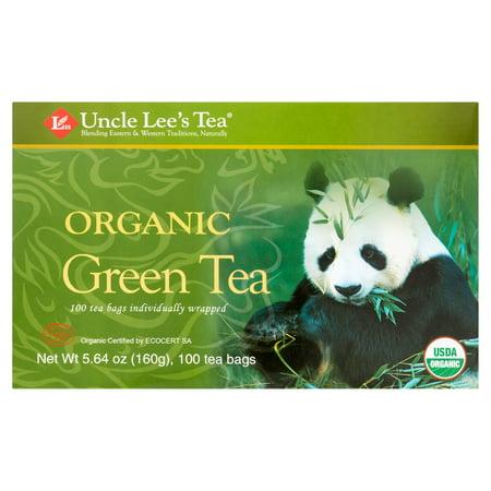 Uncle Lee's Tea vert biologique Thé, 100 sachets de thé, 5,64 oz