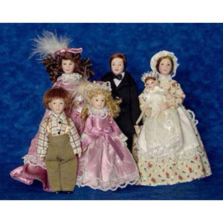 - Dollhouse Victorian Family W Maid 6Pc