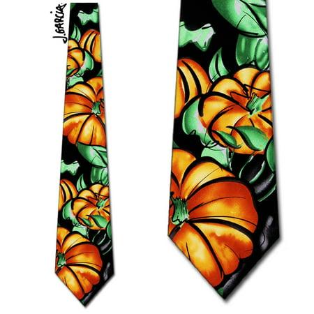 Butterfly Silk Tie - Pumpkins Butterfly Study ll Necktie M