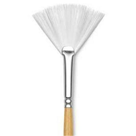 Princeton Art & Brush Co - Snap Short Handle White Nylon Taklon Brush - Bright Shader - 4
