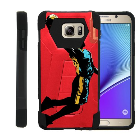 Case for Samsung Galaxy Note 5 N920 [ Shock Fusion ] High Impact Shock Resistant Shell Case + Kickstand - Red Mamba Dunk