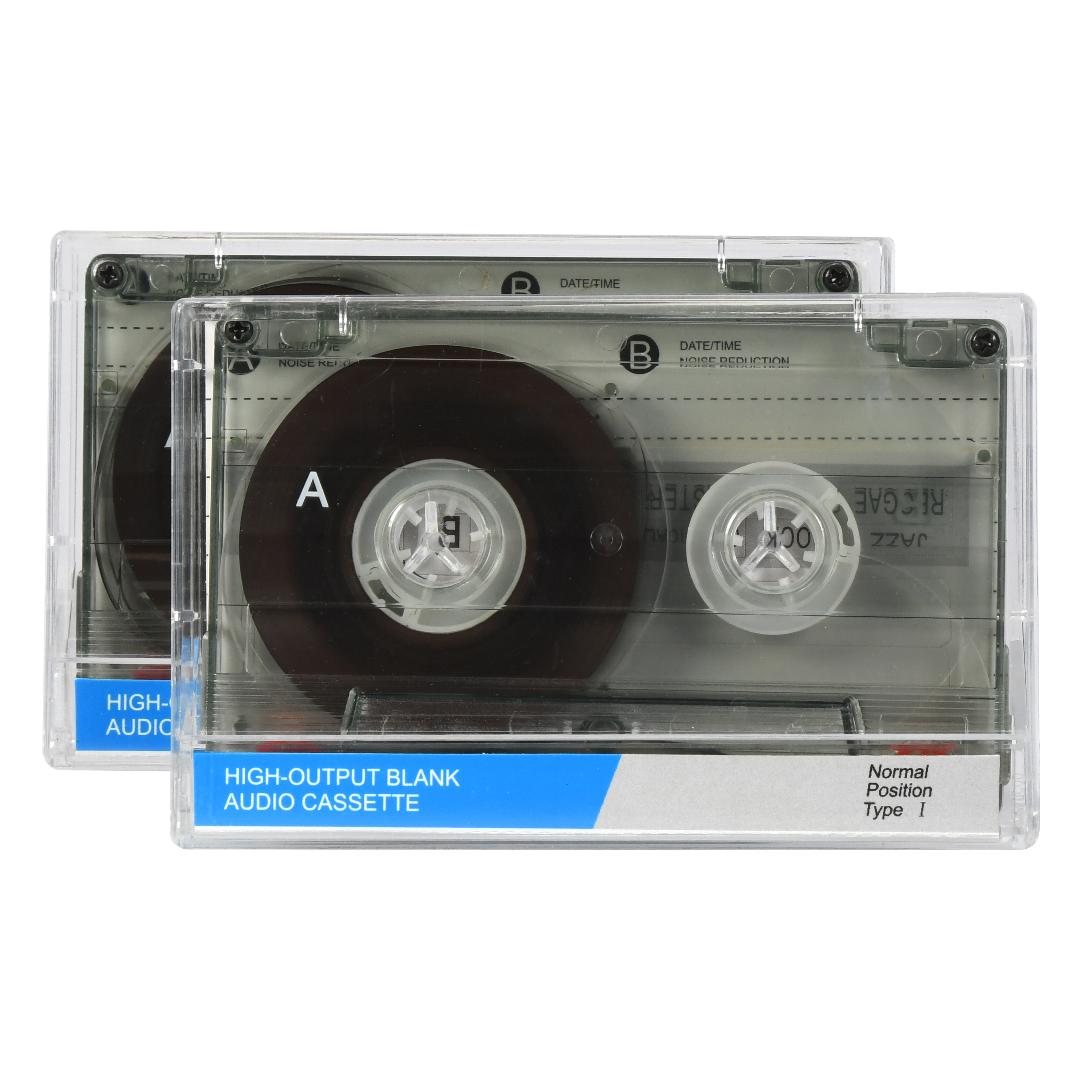 Onn 90-Minute Audio Cassette Blank Tapes, 2-Pack