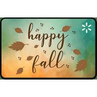Happy Fall Walmart Gift Card