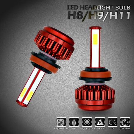 CREE Bright H11 H8 H9 200W 20000LM LED Headlight Kit High Low Beam Bulbs