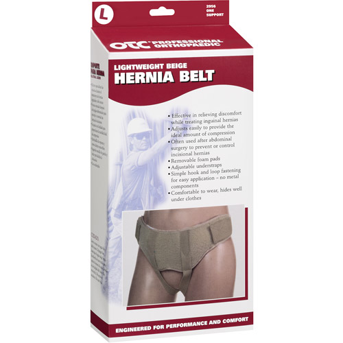OTC Lightweight Hernia Belt, Beige, Large