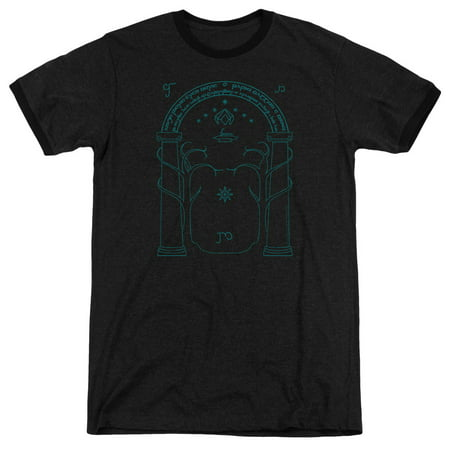 Door Ringer (Lord Of The Rings Doors Of Durin Adult Heather Ringer Shirt )