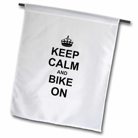 3dRose Keep Calm and Bike on - Motivational Motivating Carry on Biking Cycling Bicycle Biker Cycler Polyester 1