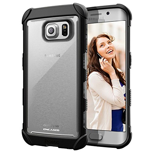 Samsung Galaxy S6 EDGE Case, Rugged/Clear Back Design With Scratch-Proof Finish (Encased?)