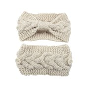 MosunX Unisex Hair Accessories Elastic Knitted Thermal Sport Head Hairband Sweet Girls