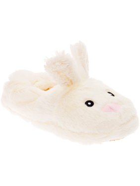 29d98d958f7b Product Image Silver Lilly Bunny Plush Animal House Slippers w  Memory Foam  Support