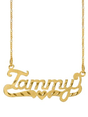 Personalized Diamond Cut Nameplate Necklace