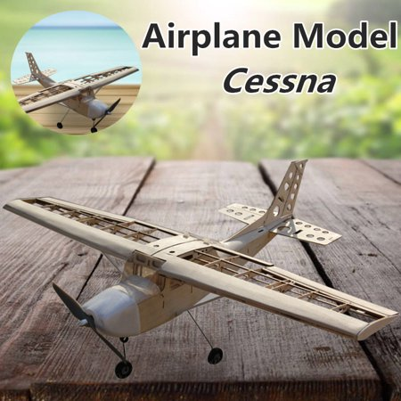 Remote Control Mini Aircraft 172 Light Wood 15 Stages Cessna DIY Assemble Toy