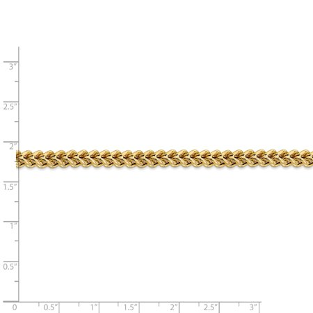 14k Yellow Gold 4.5mm Franco Chain Necklace 24 Inch Pendant Charm Figaro Fine Jewelry Gifts For Women For Her - image 2 of 9