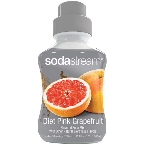 SodaStream Diet Pink Grapefruit Sodamix, 500 ml