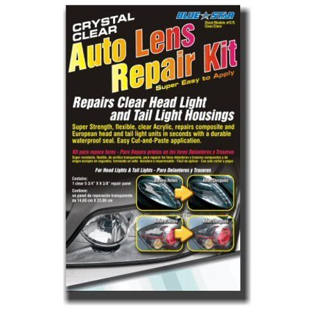 Blue Star Auto Head Light and Tail Light Housing Lens Repair Kit, Crystal Clear