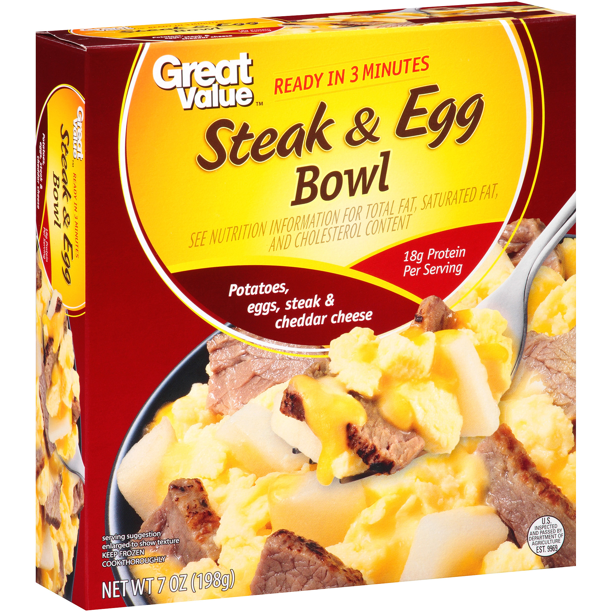 Great Value Steak & Egg Bowl, 7 oz