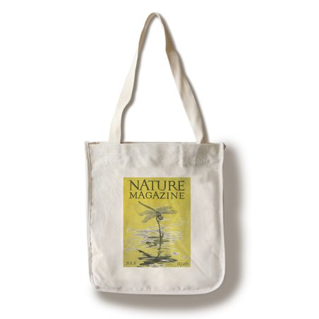 Nature Magazine - Dragonfly over a Pond - Vintage Magazine Cover (100% Cotton Tote Bag - Reusable) (Vintage Womans Day Magazine)