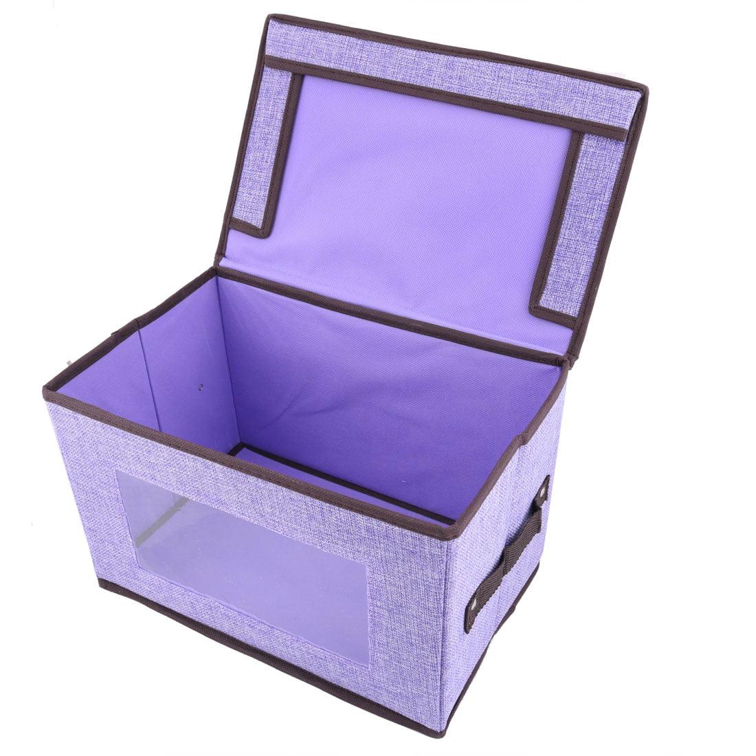 31.5 x 20.5 x 20.5cm Light Purple Linen Foldable Clothes Socks Organizer Box Holder - image 1 of 3