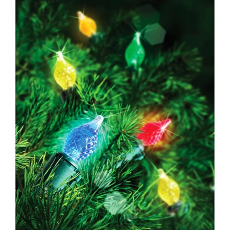 hoilday time 60 count led c4 teardrop christmas lights multi color