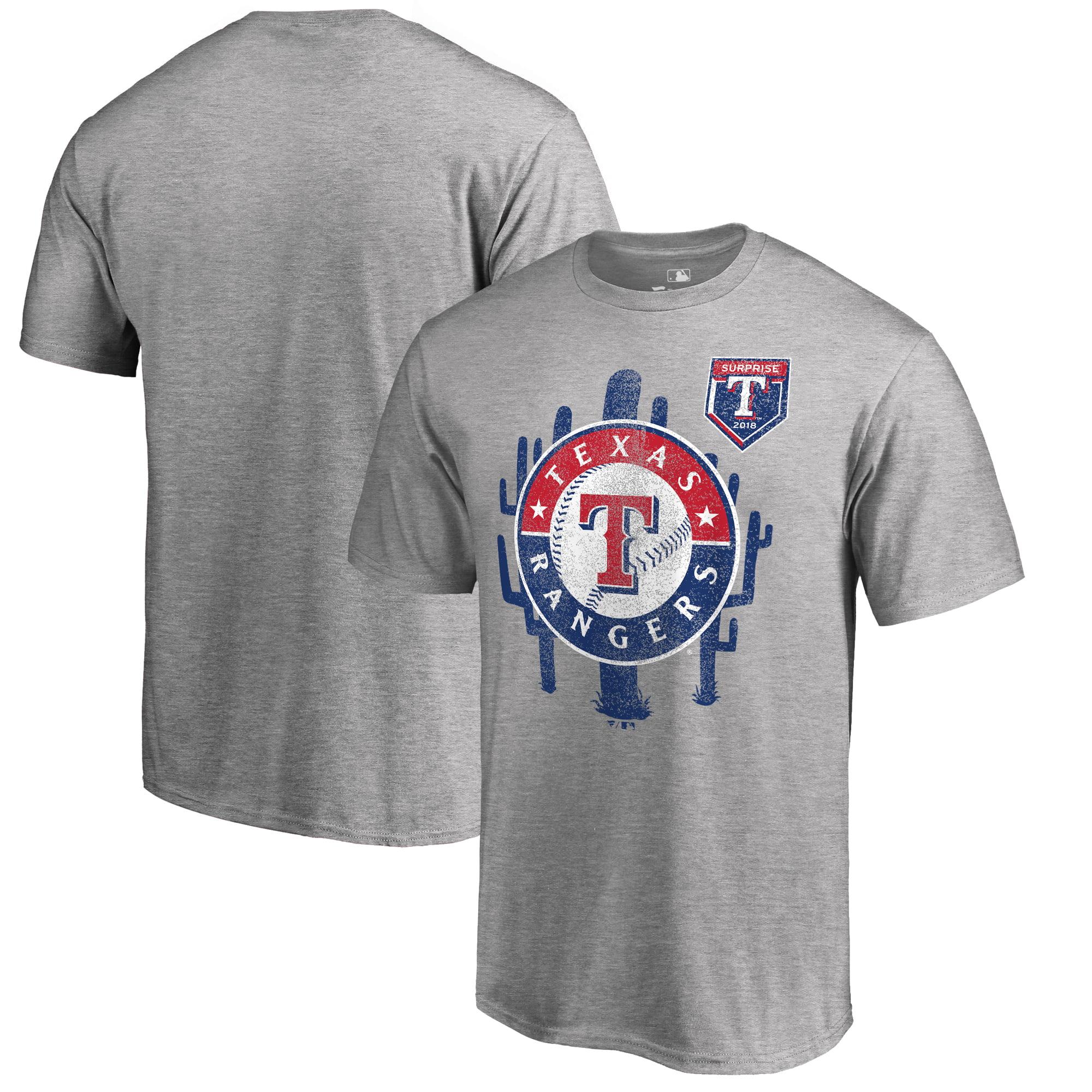Texas Rangers Fanatics Branded 2018 MLB Spring Training Vintage T-Shirt - Heather Gray