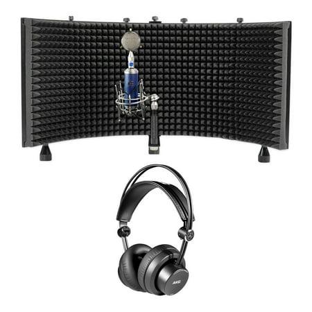 Blue Bottle Rocket Stage 1 Condenser Microphone Mic+AKG Headphones+Vocal