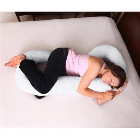 Mode de vie sain Produits COMP-002-01 Confort Oreiller de corps en coton blanc couverture - image 1 de 1