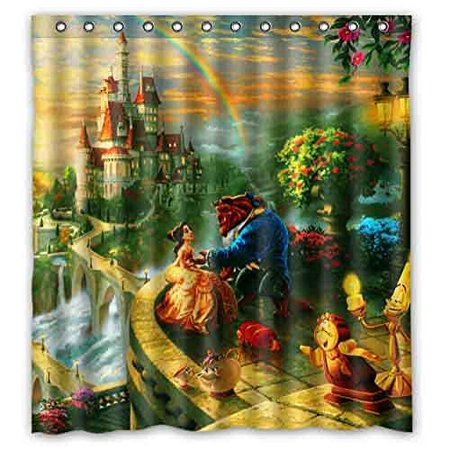 Ganma Beauty And The Beast Printed Shower Curtain Polyester Fabric Bathroom Shower Curtain 66x72 inches](Beauty And The Beast Bridal Shower)