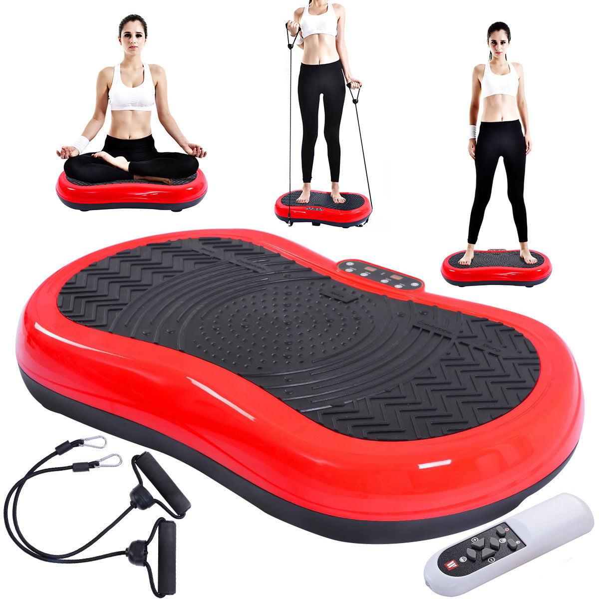 Vibration Machine Exercise Platform w/ Straps + Remote Co...