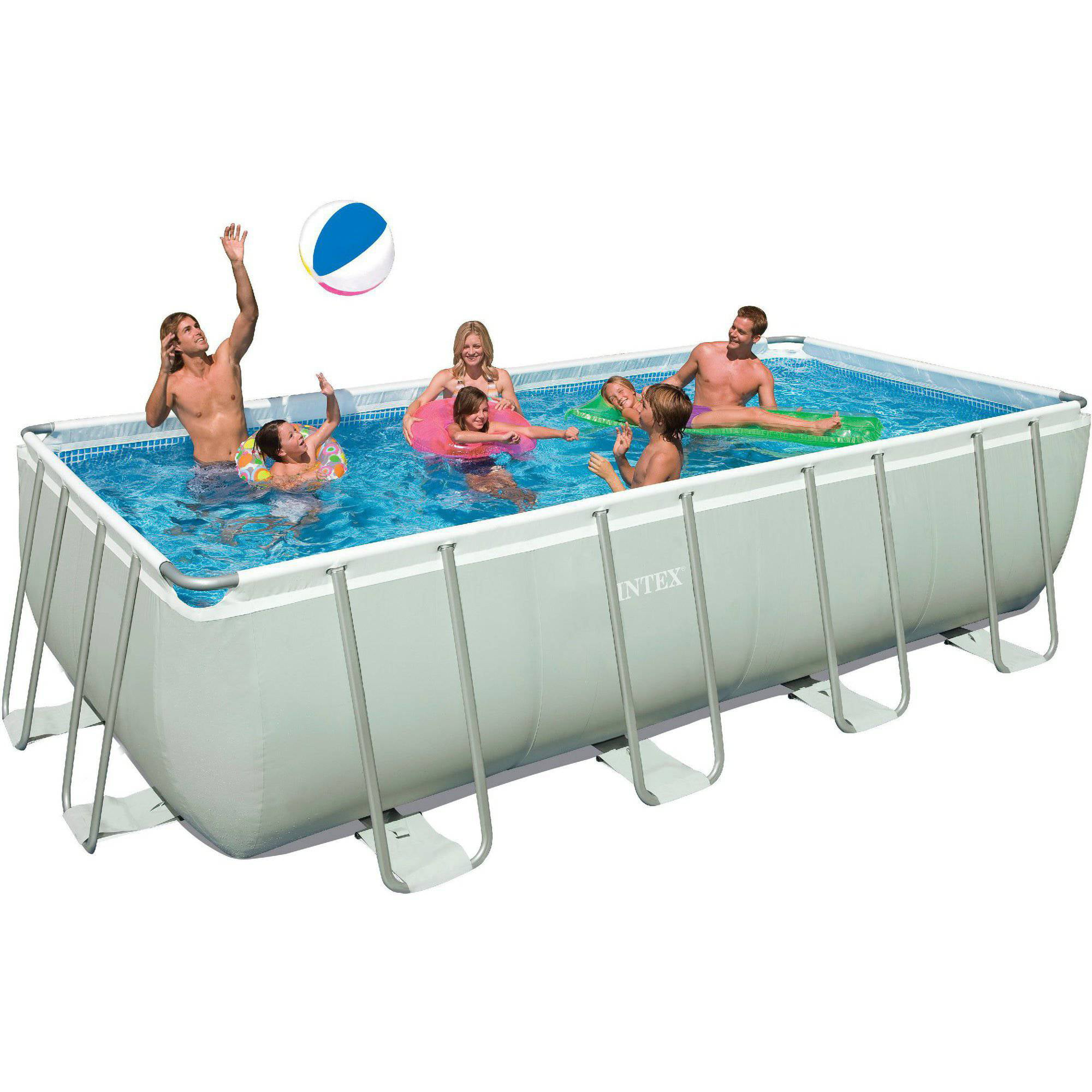 summer waves 4 rectangular metal frame above ground swimming pool walmartcom