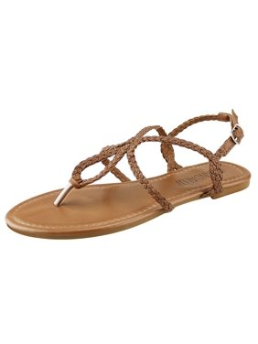 ca6a6e156f005d Product Image Womens Braided Gladiator Flat Thong Sandals