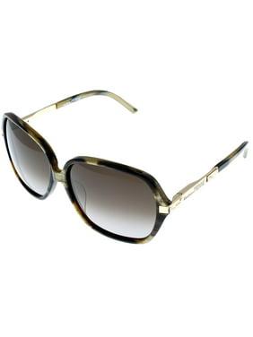 4a803a57c71 Product Image Gianfranco Ferre Sunglasses Womens GF910 04 Brown Havana  Swarovski Elements Rectangular Size  Lens  Bridge