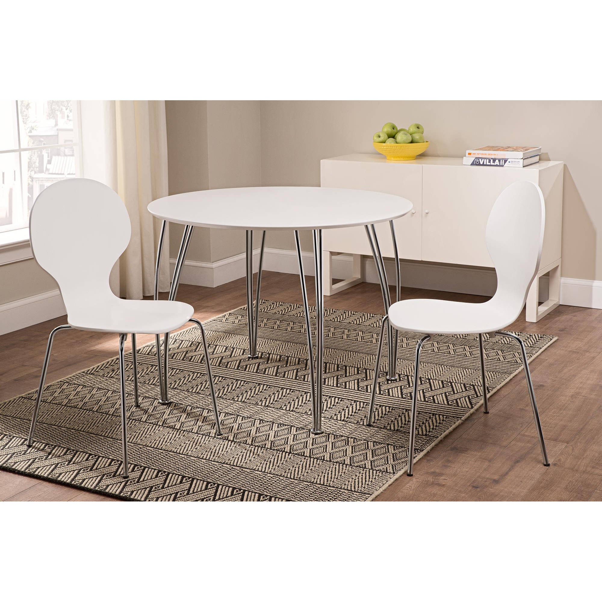 Shell Bentwood Dining Chairs, Set of 2, White