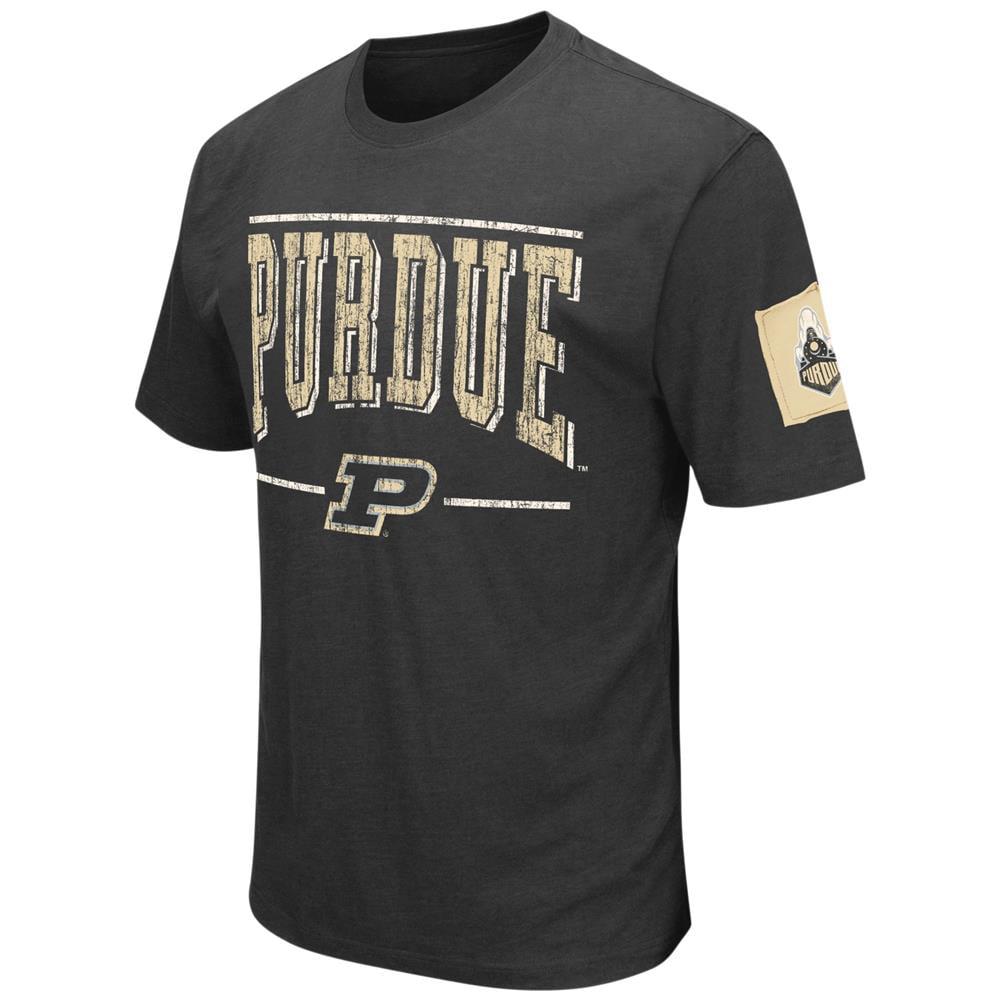 Purdue University Men's T-Shirt Short Sleeve Distressed Tee