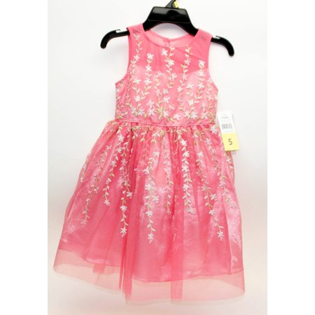 Jona Michelle Girls Cap Sleeve Special Occasion Dress, Strawberry - Size 5 - (Best Websites For Special Occasion Dresses)