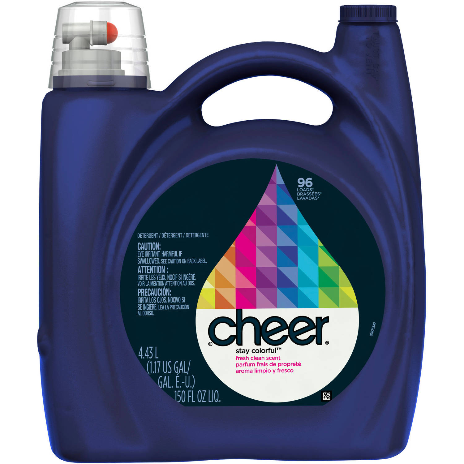 Cheer Stay Colorful Fresh Clean Scent Liquid Laundry Detergent, 96 Loads 150 fl oz