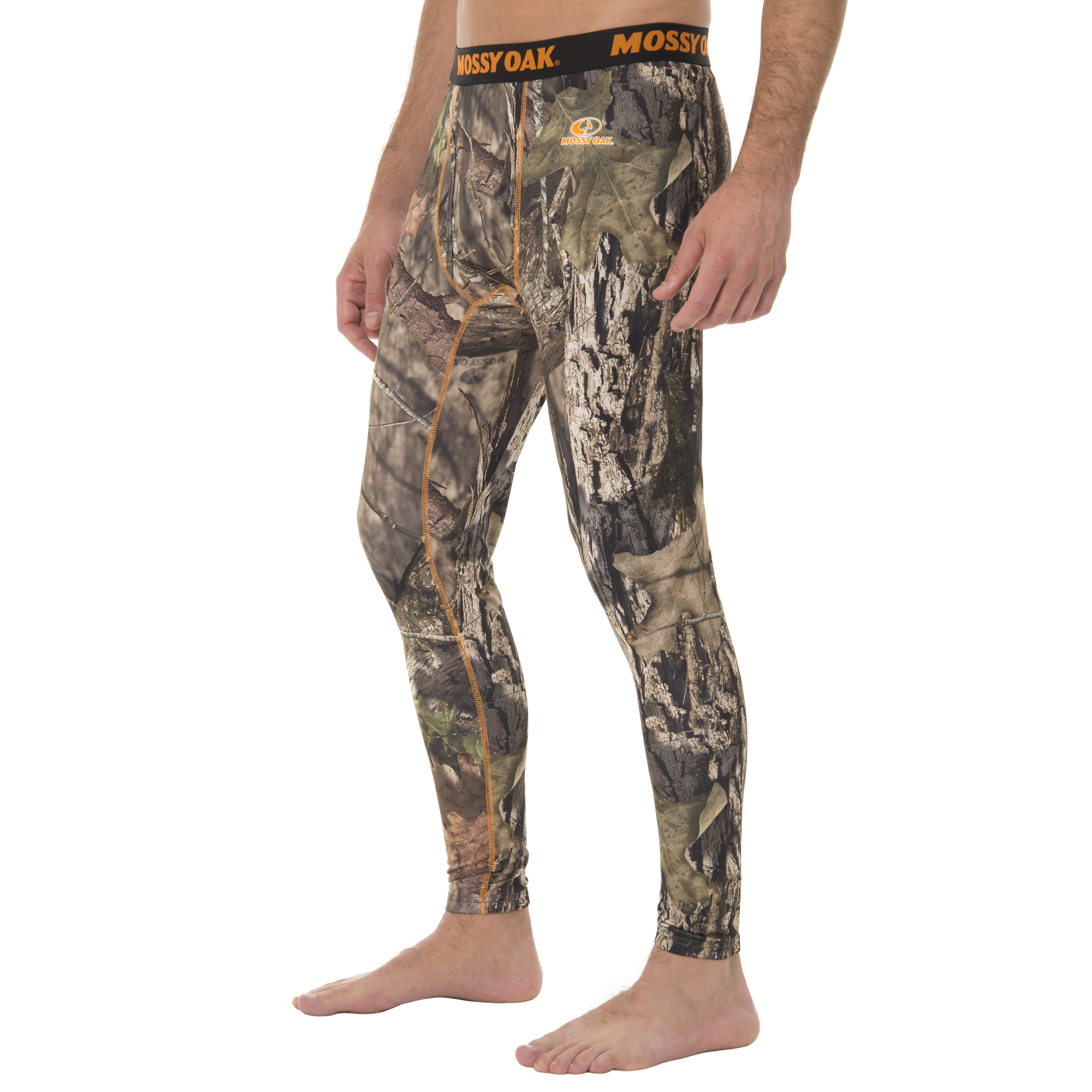 Realtree Mens Camo Fitted Baselayer Thermal Underwear Bottom