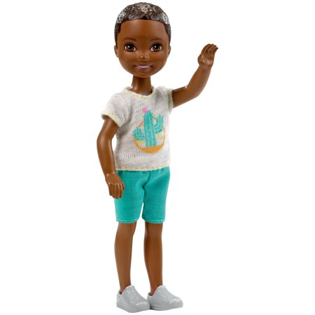 Barbie Club Chelsea 6-inch Boy Doll Wearing Cactus Top Chelsea Training Top