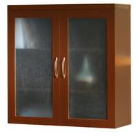 Mayline Aberdeen Glass Display Cabinet-Cherry