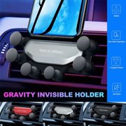 Universal Gravity Car Smartphone Holder Mobile Phone Stand GPS Air Vent Mount For iPhone Samsung Huawei Black