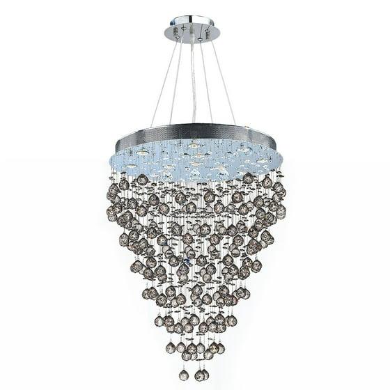 brilliance lighting. Brilliance Lighting And Chandeliers Modern Contemporary 13 Light Chrome Finish Crystal Rain Drop Chandelier 28\ E