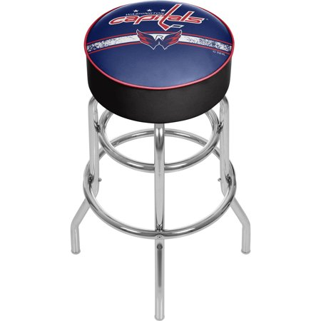 Washington Capitals Locker Room - NHL Chrome Bar Stool with Swivel, Washington Capitals