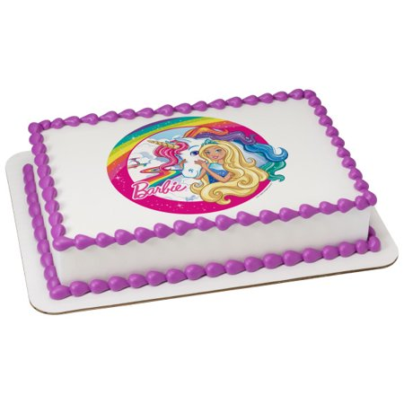 Barbie Dreamtopia 1 4 Sheet Image Cake Topper Edible Birthday Party