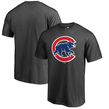 Chicago Cubs Fanatics Branded Big & Tall Primary Logo T-Shirt - Heathered Charcoal