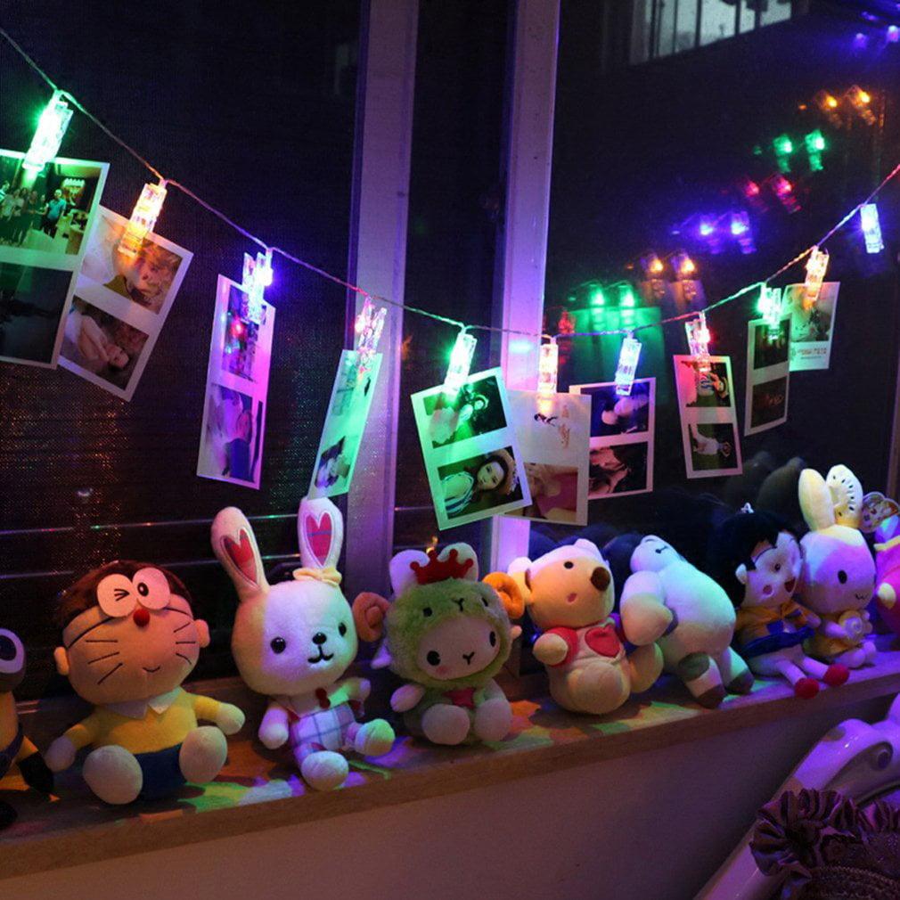 20 LED Card Photo Clip String Fairy Lights Battery Christmas Party Wedding Xmas