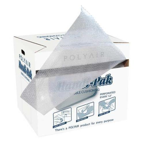"GRAINGER APPROVED Perforated Bubble Roll Dispenser Pack 24"" x 100 ft., 5/16"" Thickness, Clear, 36DY76"