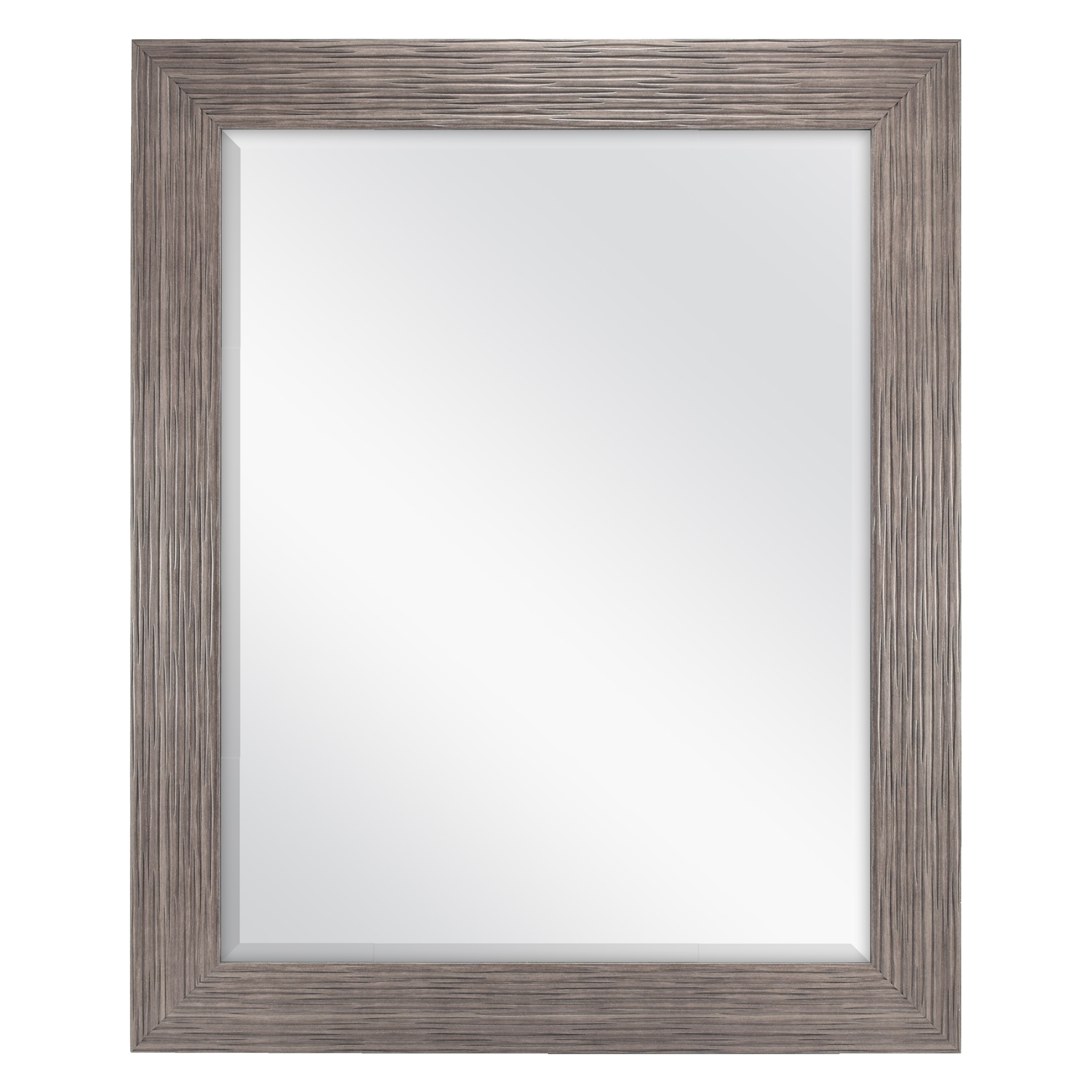 Beveled Wall Mirror better homes & gardens 27.5x33.5 woodgrain beveled wall mirror