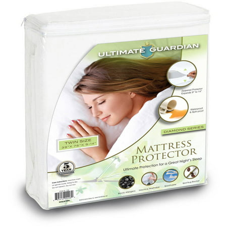Ultimate Guardian, Lab Tested, 100 Percent Bed Bug Proof Mattress Protector ()